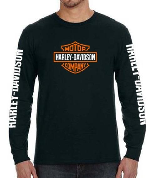Harley Davidson Playera Clásica Manga Larga