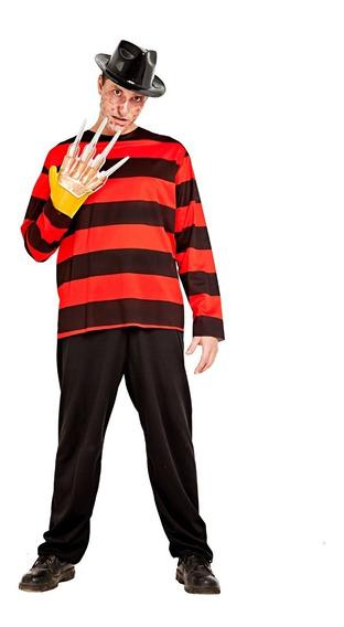 Disfraz De Freddy Krueger Con Garra Halloween Adulto Talle 2