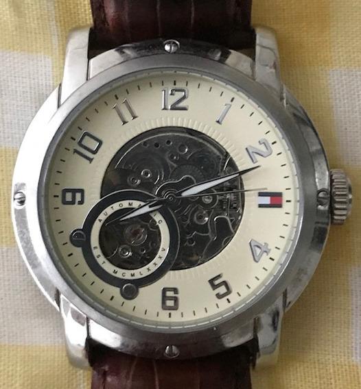 Relógio Tommy Hilfiger Automático - Couro Legítimo + Caixa