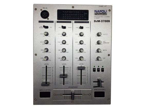 Controlador Mixer Profissional Super Dj Mixagem C/ 3 Canais