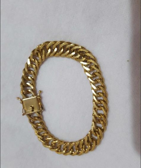 Corrente+pulseira Goumert 11mm De Moeda Antiga