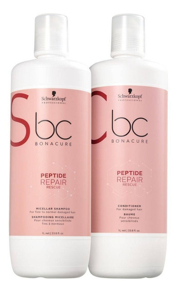 Kit Schwarzkopf Bc Repair Rescue Shampoo + Condicionador 1l