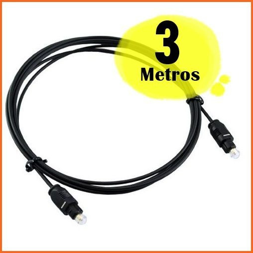 Cabo Optico Otico Digital Toslink 3m Receptor Tv Universal T