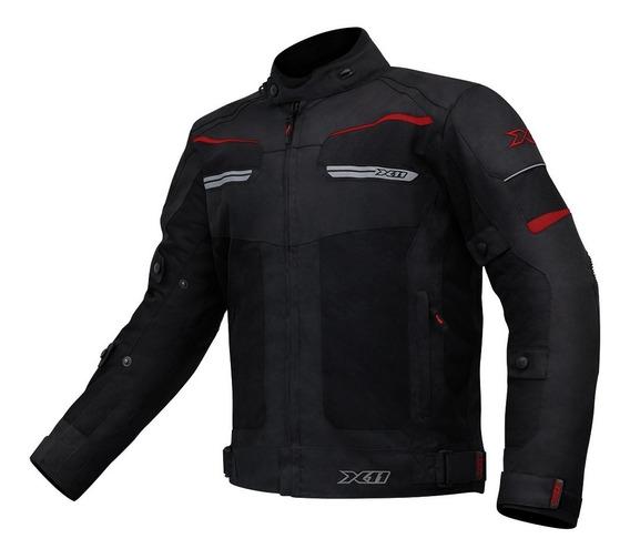 Jaqueta X11 Breeze Motociclista Moto Masculino Preto Verm