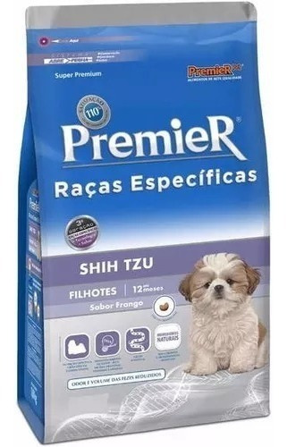 Ração Premier Específica Shih Tzu Filhote 2,5kg