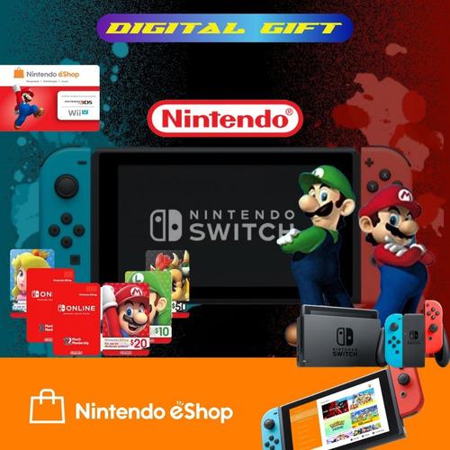 Imagen 1 de 2 de Tarjetas De Regalo Nintendo Eshop