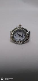 Reloj En Forma De Anillo De Quartz Plateado