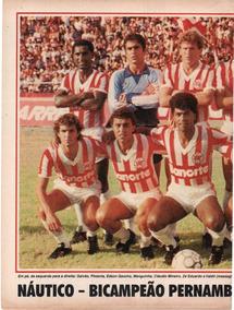 Náutico Bicampeão Pernambucano 1984 / 85 - Pôster Placar