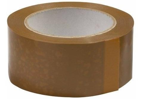 Imagen 1 de 2 de Cinta Adhesiva Marron Rollo 48mmx 100 Metros - Cymaco