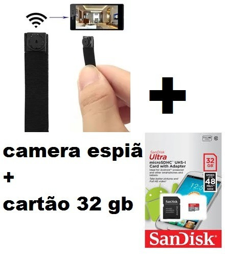 Mini Câmera Escondida Espia Hd Ip Wifi Cctv Celular + Brinde