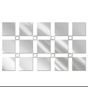 Espelho Decorativo Acrílico Quadrados