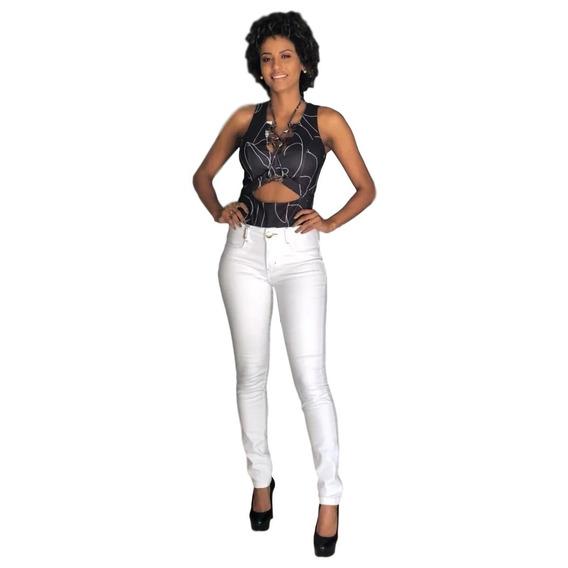 Calça Jeans Feminina Cintura Media Com Lycra Lança Perfume