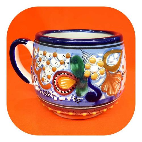 Imagen 1 de 2 de Tarro Chocolatero De Talavera Poblana Color 500 Ml Grande Tg