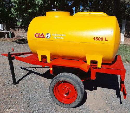 Acoplado Tanque Plastico 1500 Lts - 1 Eje