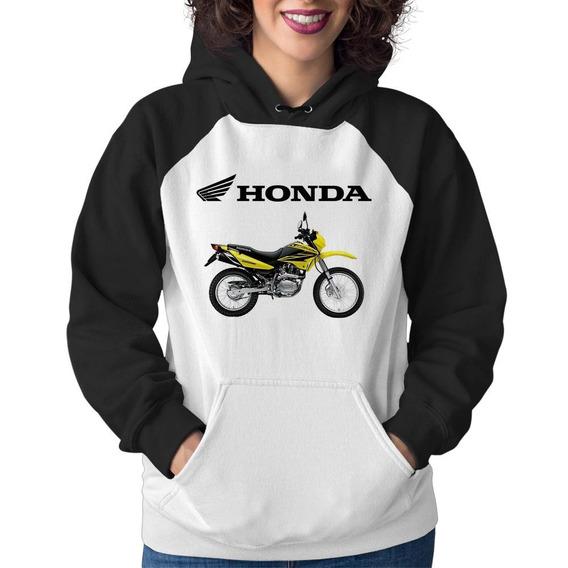 Moletom Feminino Moto Honda Nxr 150 Bros