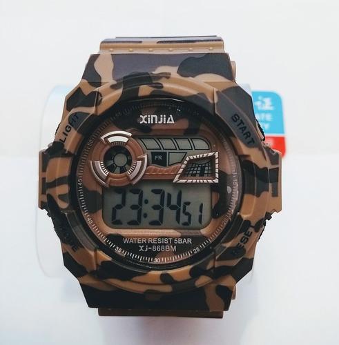 Relógio Milita Camuflado Exército Digital Xinjia