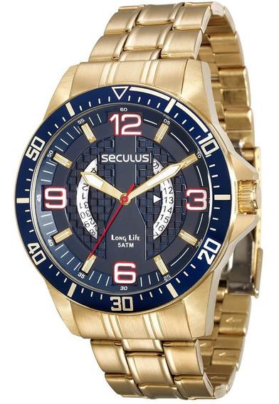 Relógio Seculus Masculino 28724gpsvda1