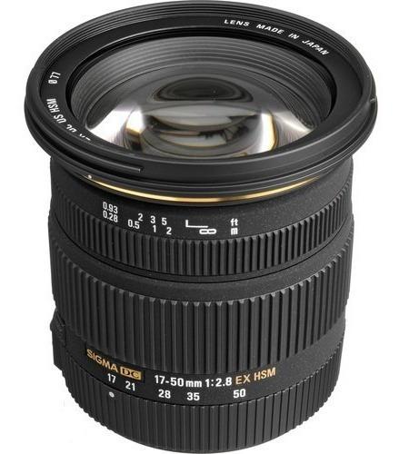 Lente Sigma 17-50mm F/2.8 Dc Ex Os Hsm Autofoco Estab Canon