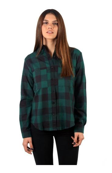 Camisa Leñadora Para Mujer / Viyela 100% Algodón