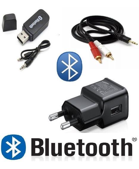 Kit Receptor Adaptador Bluetooth Usb P2 Rádio Home-theater