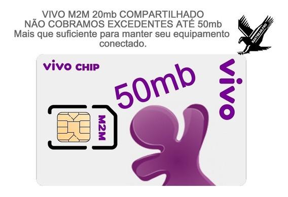 30 Chips M2m Vivo 20+30 = 50mb De Conexão Pronta Entrega