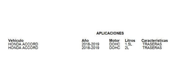Balatas Traseras Accord 2018-2019 2.0l Fritec
