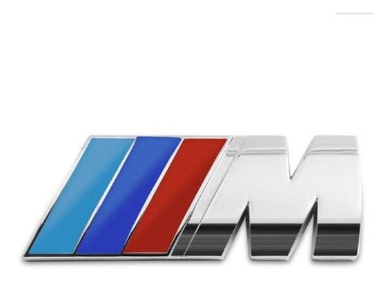 Adesivo Bmw M3 M4 M5 Sport Euro Tuning Pvc Cromado Emblema