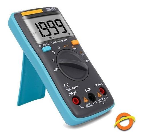 Multimetro Digital Profesional Lcd Luz Operario Electricidad Tester