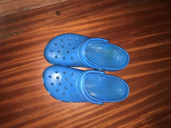 Crocs Celestes Originales Usadas