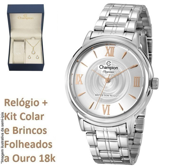 Relógio Champion Feminino Cn27278q + Kit Brinde + N. Fiscal