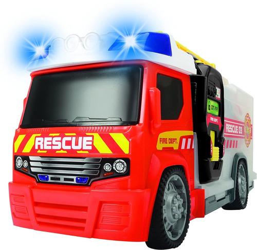 Auto Camion  Bombero Cisterna Juguete C/ Sonidos Accesorios