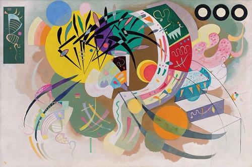 Poster Wassily Kandinsky 60x90cm Foto Obra Curva Dominante