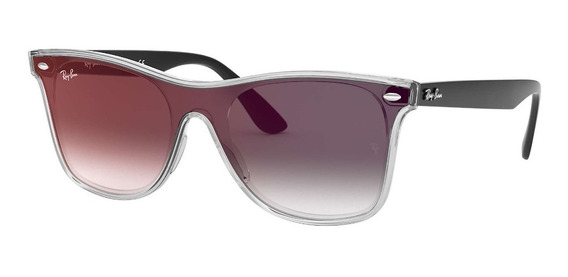 Óculos De Sol Ray Ban Rb4440n 6355u0 01-41 Blaze Wayfarer Preto Degradê Original