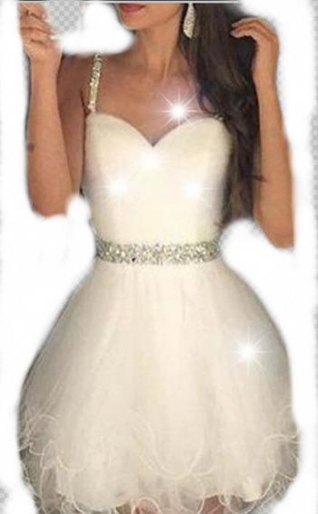 Vestido De 15 Corto + Falda Larga