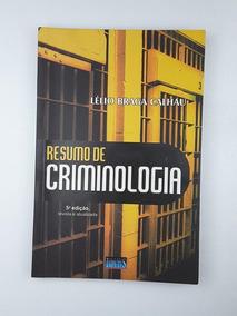 Resumo De Criminologia Calhau Lelio Braga