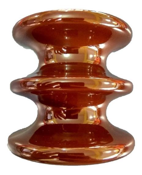 Isolador Elétrico Cerâmica Porcelana Roldana Germer 8x8cm