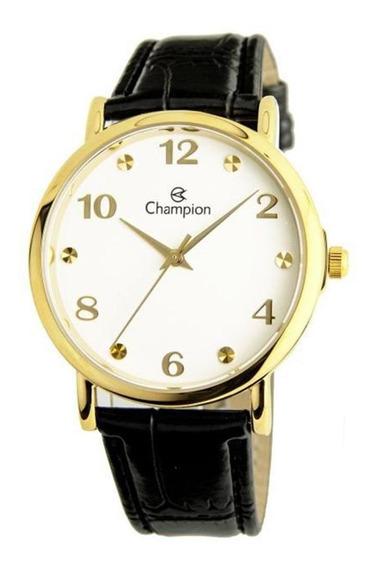 Relógio Champion Feminino Pulseira De Couro Cn24253b
