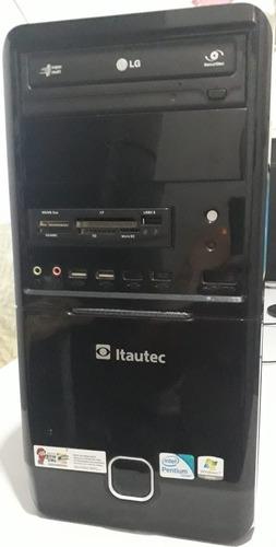 Imagem 1 de 6 de Cpu Completo Com Monitor 19  Mais Teclado/mouse/cx De Som