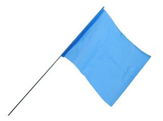 Bandera Azul Para Construcción | Caminos Paq 100pz 08000020