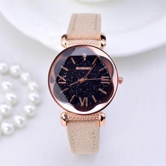 Relógio Lindo Nova Moda Quartzo Pulseira Couro