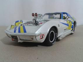 Carrinho Coleção 1/24 Corvette 1970 De Corrida