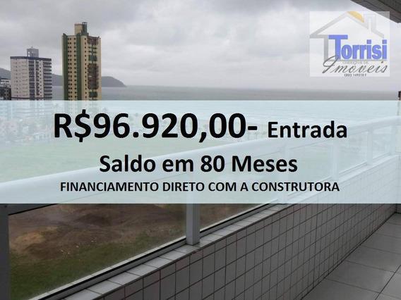 Apartamento Em Praia Grande, 02 Dormitórios Sendo 01 Suíte, Sacada Gourmet. Lazer Completo Na Aviação Ap1777 - Ap1777