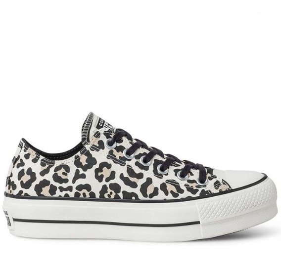 Zapatillas Converse All Star Plataforma Animal Print Mujer