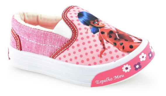 Tênis Slip Infantil Lady Bug Botinho 805