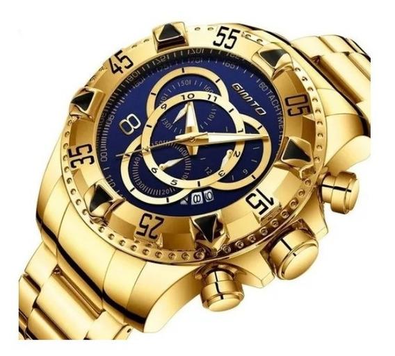 Relógio Masculino Original Luxo Quartzo À Prova D