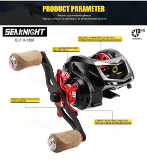 Reel Seaknight Elf Ii 1200hg Baitcasting 7. 2:1, Doble Freno