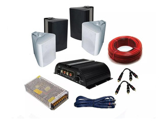 Sistema Sonido Musica Funcional Para Comercios Completo 4uni