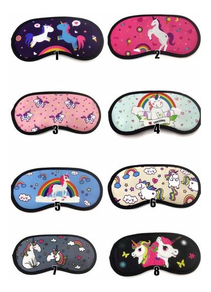 Kit Com 15 Máscaras Para Dormir Unicórnio Tapa Olhos Viagem