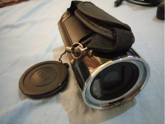 Câmera E Filmadora Full Hd Vicini + Cartão Sd De 8gb