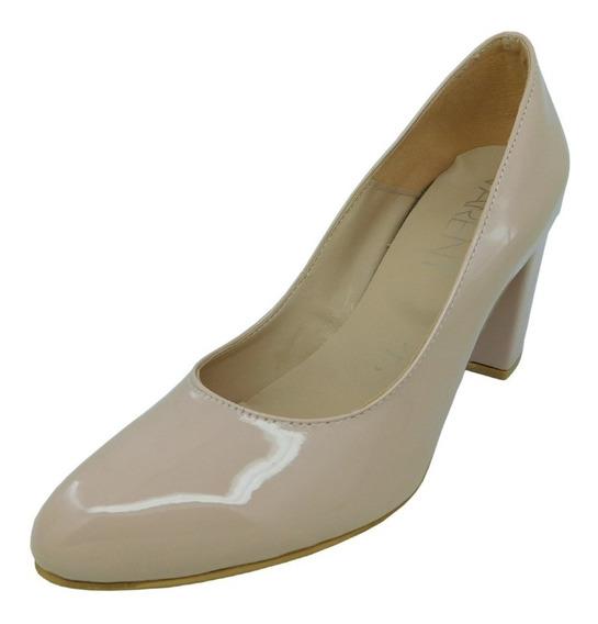 Zapato Stiletto Varent Eva. Pu, Charol Negro Y Charol Rosa